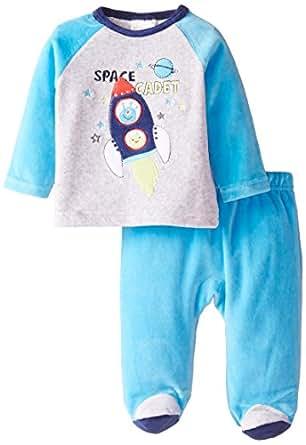 ABSORBA Baby Boys Newborn Alien Velour Footed Pant Set