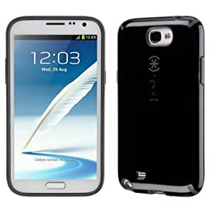 Speck Products SPK-A1708 Candyshell Glossy Cell Phone Case for Samsung Galaxy NOTE II 2 - GT N7100 - Retail Packaging - Black/Gray