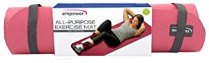 Buy Empower All Purpose Exercise Mat with Carry Strap, Cranberry by Empower