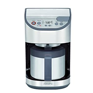 KRUPS KT4065, 10-Cup Thermal Programmable Coffeemaker, Stainless Steel