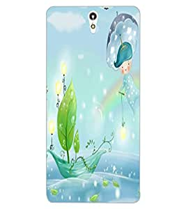 ColourCraft Cartoon world Design Back Case Cover for SONY XPERIA C5 ULTRA DUAL