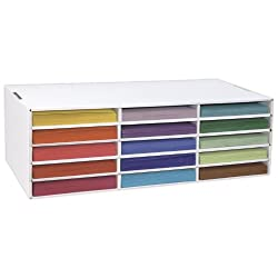 Classroom Keeper Construction Paper Storage, 9 x12 inches Unit, 15 Slots, Slots Measure 12.5x9.25x1.5 inches (001310)