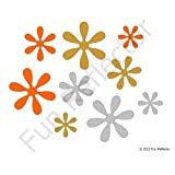 Flower Bicycle Reflector Reflective Sticker Decal