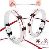 赤い糸 レッドライン / サージカルステンレスリング ペアリングに プレゼントに (13)