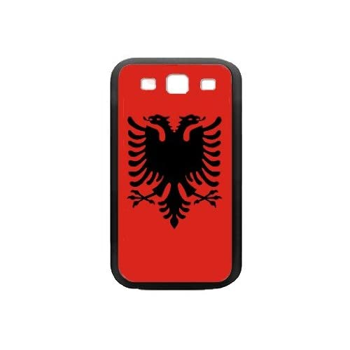 Amazon.com: Albania Flag Black Samsung Galaxy S3 Case