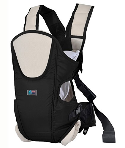 Best Buy! Ultimate Baby Carrier by Baby & Mom - Cushioning, Ergonomic, Stylish & Safe - (Black)