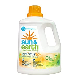 Sun & Earth 2x Concentrated Natural Laundry Detergent, Light Citrus