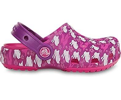 crocs Kids' Chameleons Translucent Clog (6-7 M US Toddler, RabbitsClear/Purple)