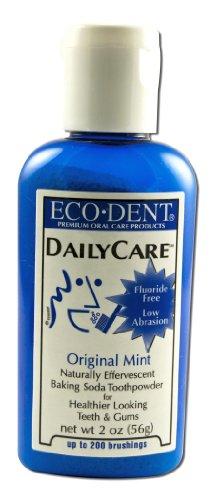 Eco-Dent Daily Care Baking Powder Toothpowder, Original Mint, 2 oz (56 g)