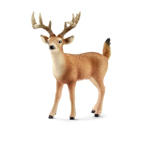 White-Tailed Buck Plastic Replica by Schleich