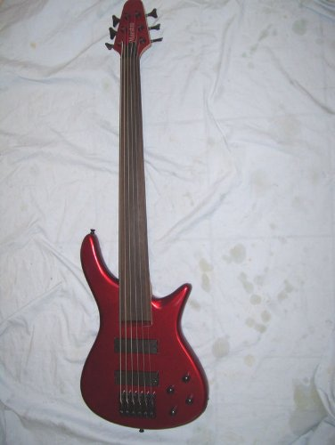 Fretless 6 String Electric Bass Guitar