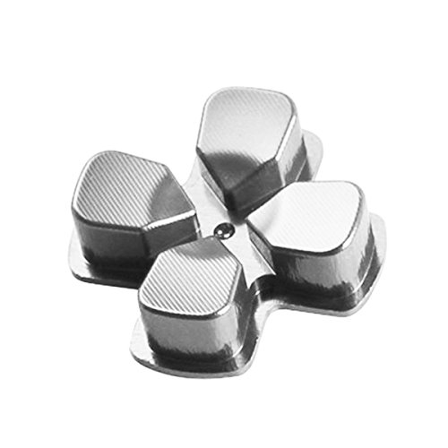 Gametown New Replacement D-PAD Dpad Aluminium Key Button for PS4 PlayStation 4 Controller Metal Silver (Transformer Bullet compare prices)