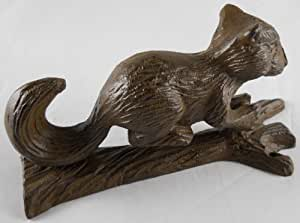 Cast iron squirrel doorknocker home kitchen - Cast iron squirrel door stop ...