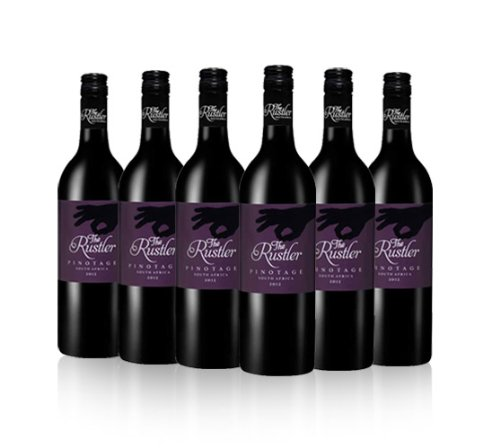 The Rustler Red Wine South African Pinotage 2012 75cl (Case of 6)