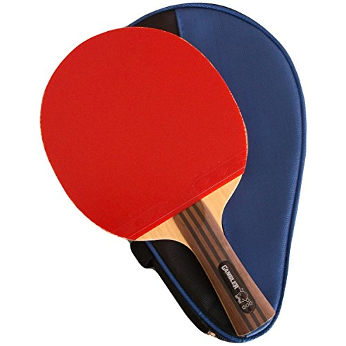 Custom Professional Table Tennis Paddle with Gambler Mega Weave Arylate Carbon Blade and Gambler Aces Rubber plus Case