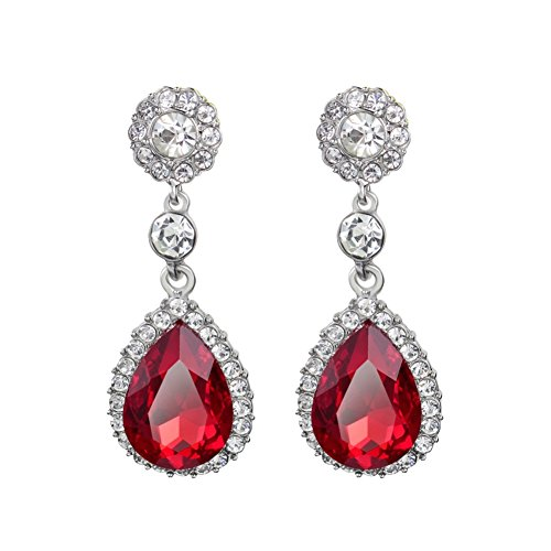 ER-06103C1 Teardrop-Shaped Crystal Round Women Earring (18 Gauge Nickle Silver Sheet compare prices)