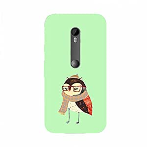 Back cover for Moto X Style Winter Owl
