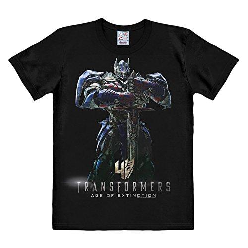 Transformers - T-shirt Age Of Extinction - Maglia di ottima qualità con licenza ufficiale - Girocollo - Nero - XL