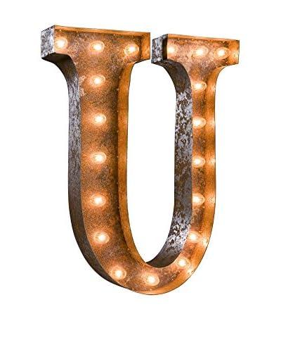 24 Vintage-Inspired Letter U Marquee Light