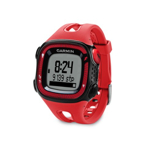 Reloj Garmin Forerunner 15 Large, color negro, rojo