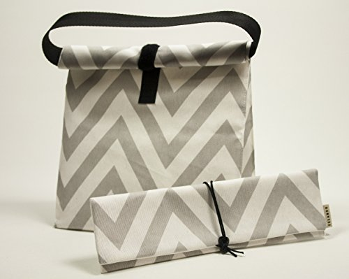 bolsa-de-almuerzo-con-asas-estampado-chevron-gris-y-blanco-bolsa-para-llevar-tu-comida-bolsa-meriend