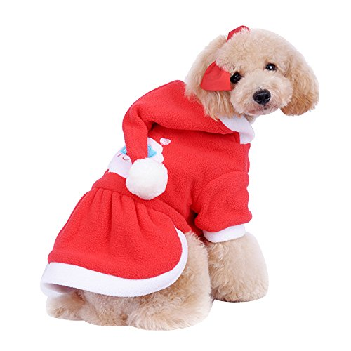 Forepin® Pet Vestito Dal Cucciolo Del Maglietta Costume Inverno Maglione Cappotto Tuta Con Cappuccio Piccolo Animale Domestico Cagnolino (Gonna XXL)