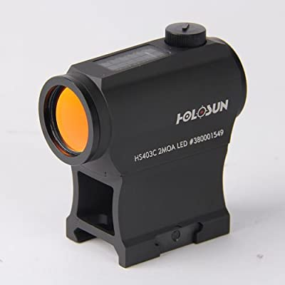 HOLOSUN HS403C Solar Power Micro Red Dot Sight, Black from HoloSun Technologies Inc.