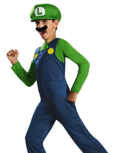 Disguise Nintendo Super Mario Brothers Luigi Classic Boys Costume