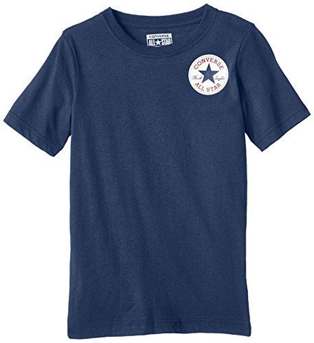 Converse Left Chest-T-shirt Bambini e ragazzi,    Blu (Navy) 12-13 anni