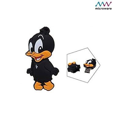 Microware 4GB Black Duck ShMicroware Designer Pen Drive