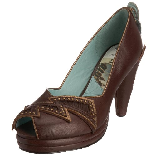 Rakish Heels Women's Ziggy Court Walnut Brown ziss1b 4 UK