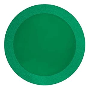 "Creative Converting Glitz Green Round Placemats with 2"" Glitter Border, 8 Count"