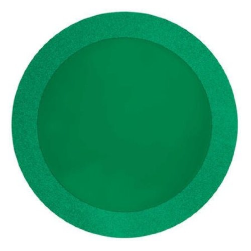 "Creative Converting Glitz Green Round Placemats with 2"" Glitter Border, 8 Count - 1"