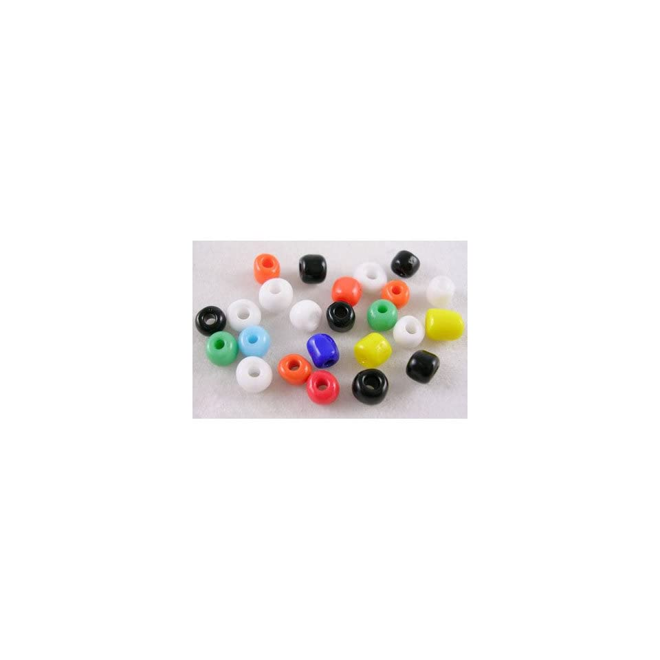 DIY Jewelry Making 1oz. Multicolored Glass Seed Beads, Opaque & Lustered, Size About 4mm in Diameter, Hole 1mm. About 280 Pcs