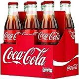 Coca-Cola Classic 8oz Glass Bottles 4-6 Packs (24 Bottles) Coke