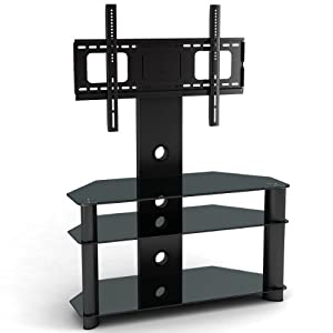 The Best  1home Cantilever Glass TV Stand