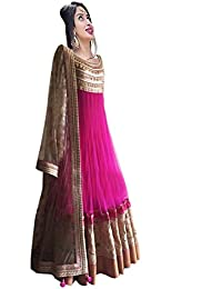 Dresses For Women New Arrival Western Party Wear Anarkali Semistitched Dress Materials By Ecolors Fab Women's...