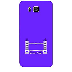 Skin4gadgets Iconic Wonder London Bridge Colour - Dark Purple Phone Skin for SAMSUNG GALAXY ALPHA (G850)