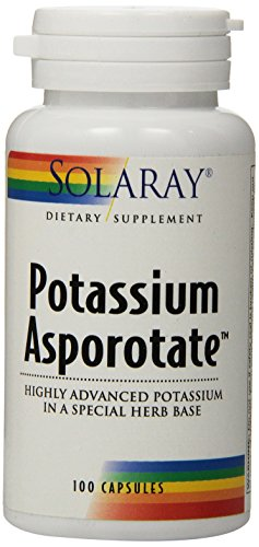 Solaray Potassium Asporotate Supplement, 99 mg, 100 Count (Solaray Potassium 99 Mg compare prices)