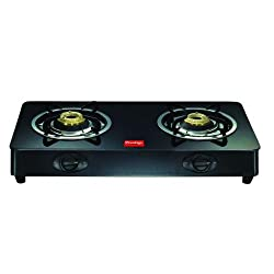 Prestige Royale Plus GT 02 Glass Top Gas Stove, Black