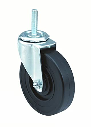 E.R. Wagner Stem Caster, Swivel, Hard Rubber Wheel