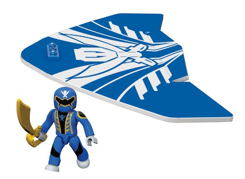 Mega Bloks Power Rangers Blue Ranger Air Gliders