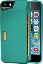 iPhone 5s Wallet Case - Vault Slim Wallet for iPhone 5/5s by Silk - Ultra Slim Protective Wallet Cover (Pacific Green)