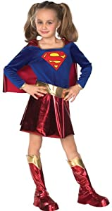 Super DC Heroes Supergirl Child's Costume Medium (Size 8-10) (for 5-7 Years)