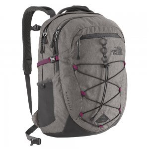 The North Face Women's Borealis Backpack CHK3,Zinc Grey Heather/Dramatic Plum,US