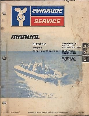 1978 Evinrude Outboard Electric Models Service Manual