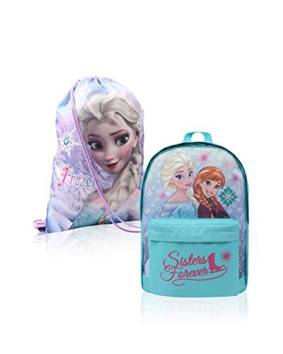 BACK TO SCHOOL Mochila x 2 Frozen Azul