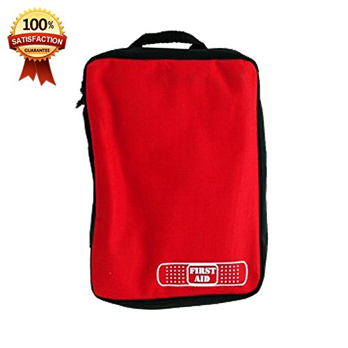 #1 Small First Aid Storage Bag Only with Handle Ideal for Camping,Hiking,Travel,Car,Extreme Sports – Good Quality Guarantee – Best Portable Medical Stuff Organizer Solution