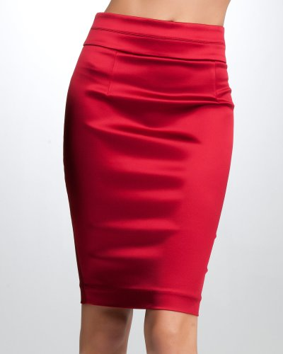 e272056745 Satin Online Stores: bebe High-Waist Stretch Heavy Satin Skirt