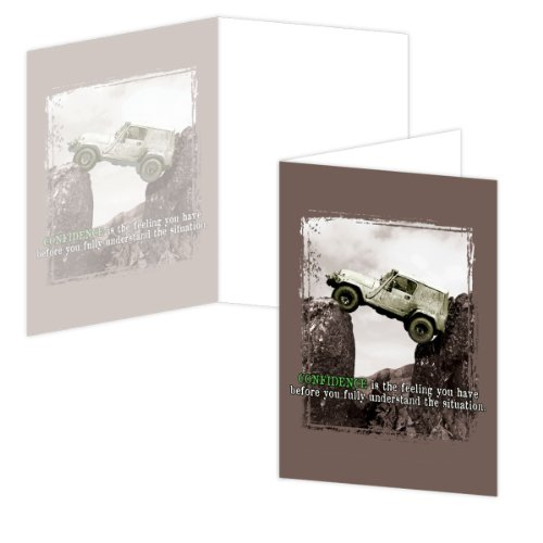 Ecoeverywhere 4 Wd Confidence Boxed Card Set, 12 Cards And Envelopes, 4 X 6 Inches, Multicolored (Bc14230)